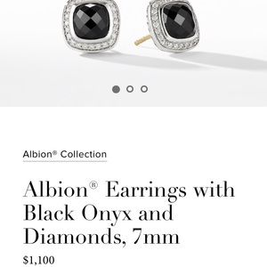 Brand New David Yurman Pave Onyx earrings